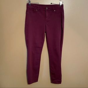 MAURICES Burgundy Jeggings Size Large